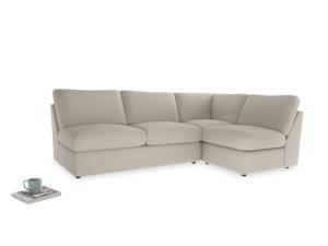 Large right hand Chatnap modular corner storage sofa in Buff brushed cotton