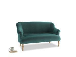 Medium Sweetie Sofa in Real Teal clever velvet