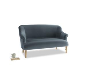 Medium Sweetie Sofa in Mermaid plush velvet