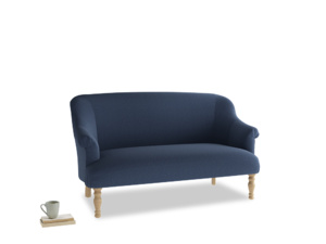 Medium Sweetie Sofa in Navy blue brushed cotton