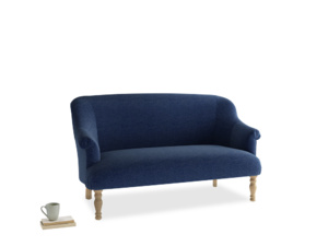 Medium Sweetie Sofa in Ink Blue wool