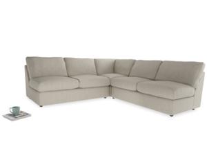 Even Sided  Chatnap modular corner storage sofa in Thatch house fabric