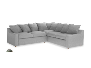 Even Sided Cloud Corner Sofa in Mist cotton mix