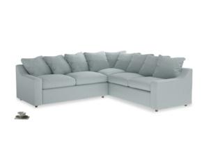 Even Sided Cloud Corner Sofa in Duck Egg vintage linen