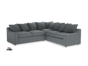 Even Sided Cloud Corner Sofa in Dusk vintage linen