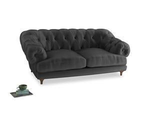 Medium Bagsie Sofa in Scuttle grey vintage velvet