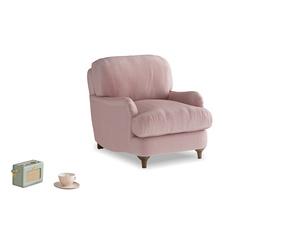 Jonesy Armchair in Chalky Pink vintage velvet