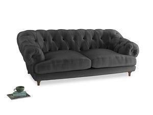 Large Bagsie Sofa in Scuttle grey vintage velvet