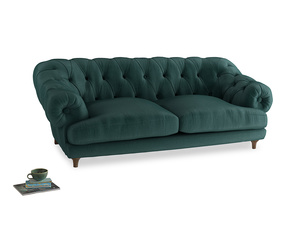 Large Bagsie Sofa in Timeless teal vintage velvet