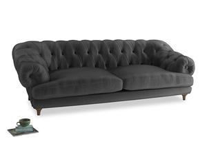 Extra large Bagsie Sofa in Scuttle grey vintage velvet