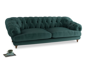 Extra large Bagsie Sofa in Timeless teal vintage velvet