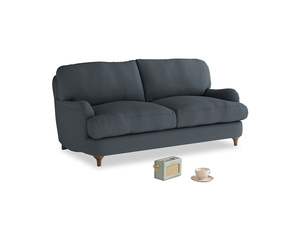 Small Jonesy Sofa in Lava grey clever linen