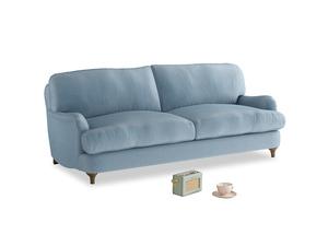 Medium Jonesy Sofa in Chalky blue vintage velvet