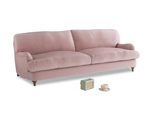 Large Jonesy Sofa in Chalky Pink vintage velvet