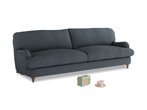Large Jonesy Sofa in Lava grey clever linen