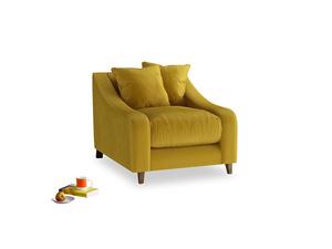 Oscar Armchair in Burnt yellow vintage velvet