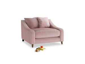 Oscar Love seat in Chalky Pink vintage velvet