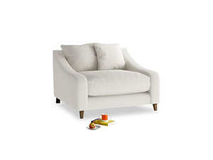 Oscar Love seat in Oyster white clever linen