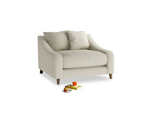 Oscar Love seat in Pale rope clever linen