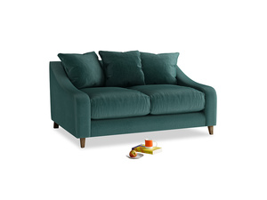 Small Oscar Sofa in Timeless teal vintage velvet