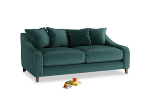 Medium Oscar Sofa in Timeless teal vintage velvet
