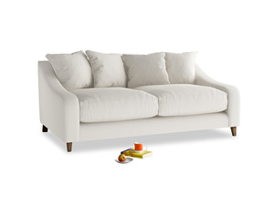 Medium Oscar Sofa in Oyster white clever linen