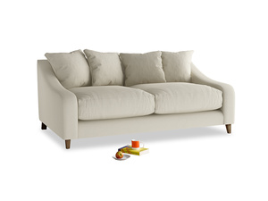 Medium Oscar Sofa in Pale rope clever linen