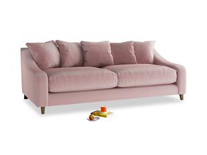 Large Oscar Sofa in Chalky Pink vintage velvet