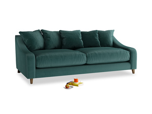 Large Oscar Sofa in Timeless teal vintage velvet