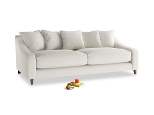 Large Oscar Sofa in Oyster white clever linen