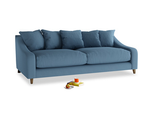 Large Oscar Sofa in Easy blue clever linen