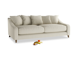 Large Oscar Sofa in Pale rope clever linen