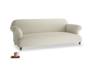 Large Soufflé Sofa in Pale rope clever linen