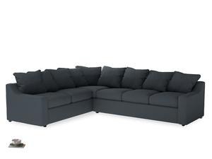 Xl Left Hand Cloud Corner Sofa in Lava grey clever linen