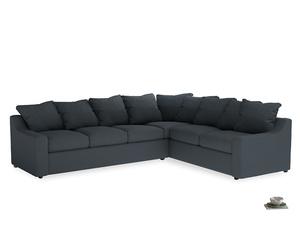 Xl Right Hand Cloud Corner Sofa in Lava grey clever linen