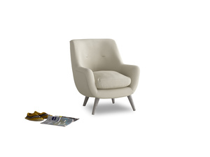 Berlin Armchair in Pale rope clever linen