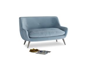 Small Berlin Sofa in Chalky blue vintage velvet