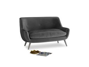 Small Berlin Sofa in Scuttle grey vintage velvet
