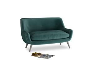 Small Berlin Sofa in Timeless teal vintage velvet