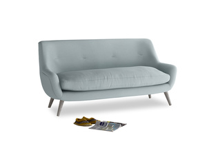 Medium Berlin Sofa in Quail's egg clever linen