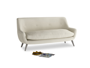 Medium Berlin Sofa in Pale rope clever linen