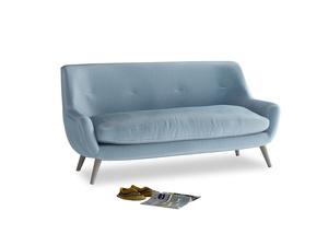Medium Berlin Sofa in Chalky blue vintage velvet