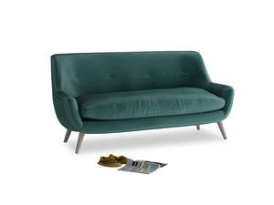 Medium Berlin Sofa in Timeless teal vintage velvet