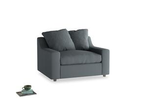 Cloud Love seat in Meteor grey clever linen