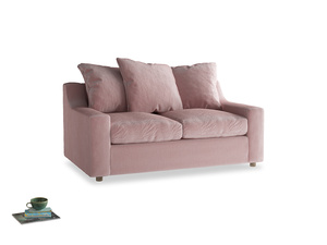 Small Cloud Sofa in Chalky Pink vintage velvet