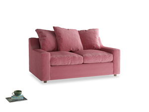 Small Cloud Sofa in Blushed pink vintage velvet