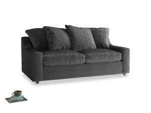 Medium Cloud Sofa in Scuttle grey vintage velvet