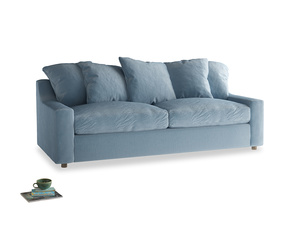 Large Cloud Sofa in Chalky blue vintage velvet