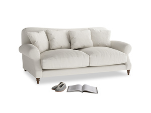 Medium Crumpet Sofa in Oyster white clever linen