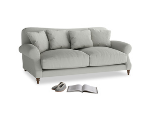 Medium Crumpet Sofa in Mineral grey clever linen